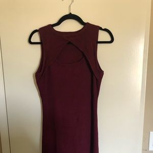 Lulus bodycon ribbed sweater dress never worn
